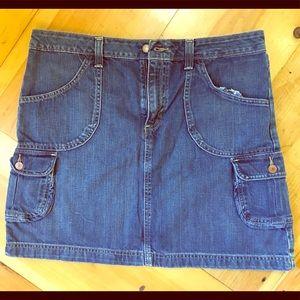 Old Navy Denim Mini Skirt with Cargo Pockets